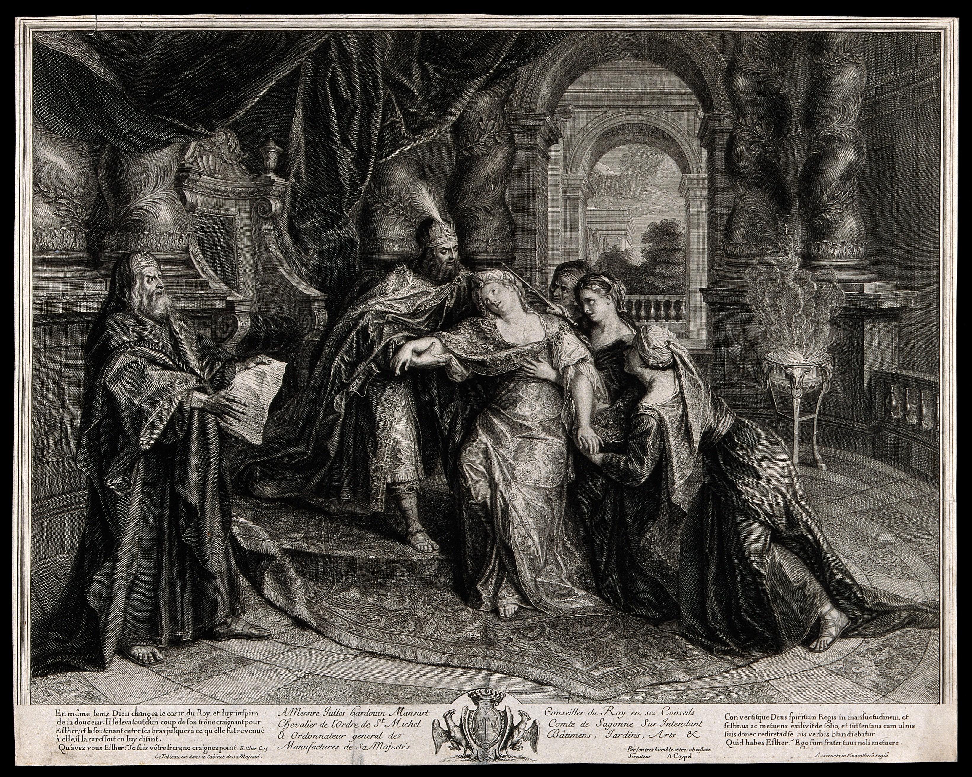 Königin Esther und König Xerxes Zeichnung
