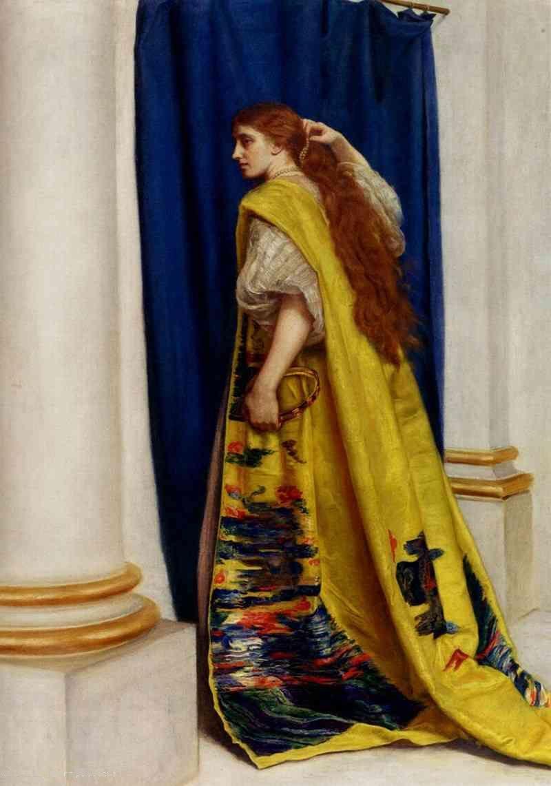 Königin Esther Gemälde von Millais