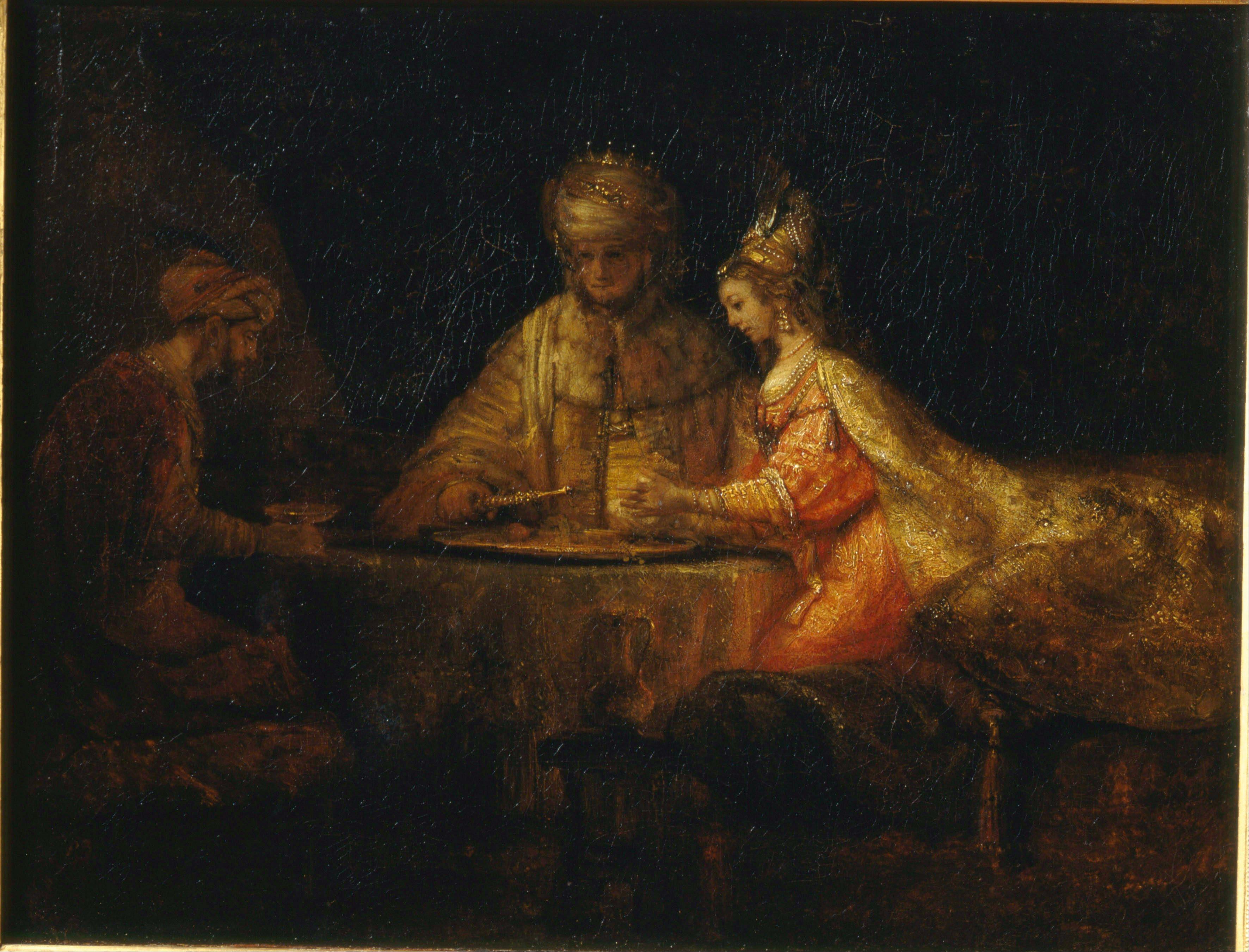 Königin Esther nach einem Gemälde von Rembrandt