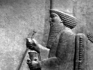 Persisches Relief von König Xerxes I.